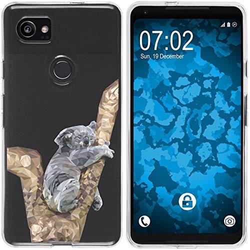 Preisvergleich Produktbild PhoneNatic Case kompatibel mit Google Pixel 2 XL Silikon-Hülle Vektor Tiere Koala M9