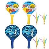 BESPORTBLE 2 Sets Raqueta de Tenis de Playa Raqueta de Pádel de Madera