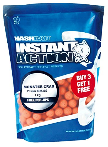 Nash Instant Action Boilie Monster Crab 20mm; 1kg