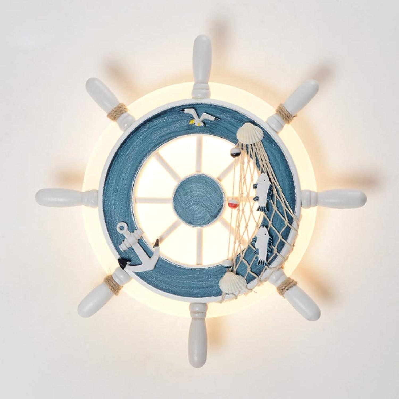 Kreative Steuermann LED Wandleuchte Kinder Schlafzimmer Nacht Wandleuchte Wohnzimmer Schlafzimmer einfache Innenbeleuchtung Lampe