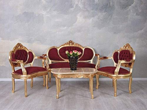 Sofagarnitur Sitzgruppe Barock Sofa Sessel Couchtisch Couchgarnitur cat499a35 Palazzo Exklusiv