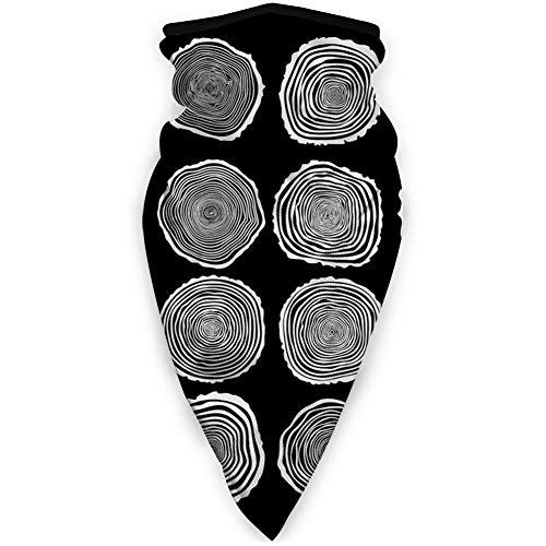 MLNHY - Funda de cara cómoda a prueba de viento, ciclo de vida de tronco, patrón de caracteres, estampado facial para todo el mundo
