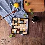 YAeele Pintado a Mano Placa de cerámica Creativa Personalidad Plaza Placa Plana Estilo Occidental Ensalada de Frutas Pasta Placa Placa del Modelo del Color 19.5X22.5Cm Fácil de Limpiar