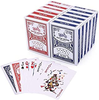 LotFancy Spielkarten 12X Pokerkarten Poker Set Playing Cards Standard, Top Qualität..