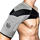 Vital Salveo Shoulder Brace Compression Sleeve Wrap with Support and Stability Breathable and Light for Shoulder Pain and Prevent Injuries Dislocated AC Joint Frozen Pain Rotator Cuff Tendinitis Labrum Tear(1PC) XL