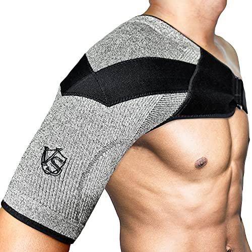 Vital Salveo Compression Recovery Support épaule Warp Haut bras réglable pour dislocation de blessures articulaires AC (1 pièce)