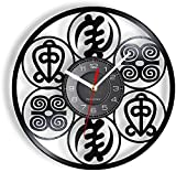YYYFF Orologio da Parete Simbolo Africano Ispirazione Orologio da Parete in Vinile Orologio da Parete God's Love Power Home Decor Orologio Vintage-No LED