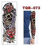Etiqueta engomada del tatuaje Impermeable Duradero Brazo completo Color Taro Negro Ángel Cuerpo Brazo Pierna Hombres y mujeres Art Sticker 10pcs B