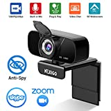 1080P Streaming Webcam with Microphone & Privacy Cover, 2020 NexiGo N620 Web Camera, 90-Degree Wide Angle, for PC/Mac Laptop/Desktop, Zoom Skype FaceTime Teams