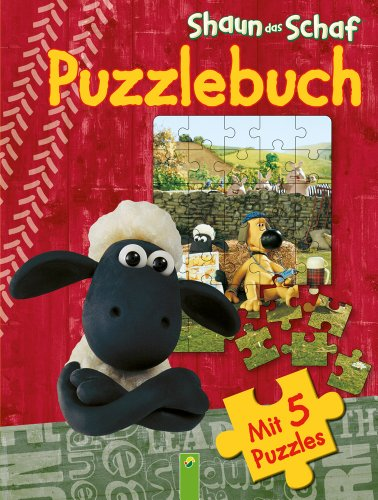 Shaun das Schaf - Puzzlebuch: 5 Puzzles á 35 Teile