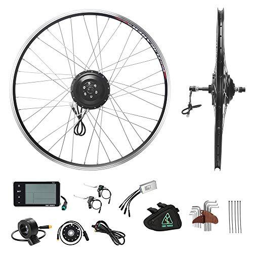 """YOSE POWER E-Bike Conversion Kit 36V350W 28\"""" Zoll (700C) Heckmotor Umbausatz Freilauf für Schraubritzel Schwarz Elektro Fahrrad Motor Kit"""