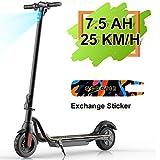 M MEGAWHEELS Scooter - Patinete eléctrico Plegable, 25km/h, batería de...