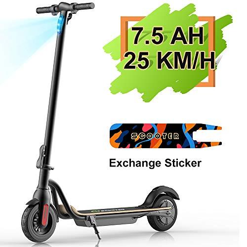M MEGAWHEELS Scooter - Patinete eléctrico Plegable, 25km/h, batería de Gran Capacidad de 7500 mAH, Patinete electrico Adulto