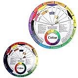 EXCEART 2 Piezas de Color Esencial Rueda de Pintura de Mezcla Guía de Aprendizaje Clase de Arte Herramienta de Enseñanza Rueda de Color Compañero de Maquillaje Tabla de Mezcla de Colores