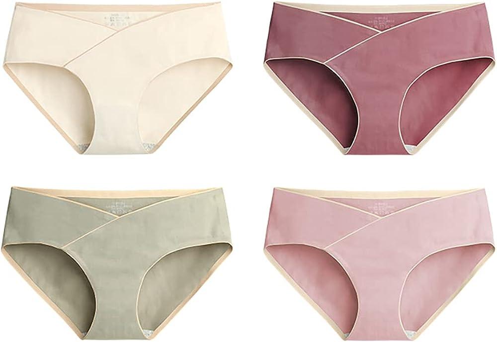 Sunveno 4pcs/lot Maternity Panties Underwear Clothes for Pregnant Women Clothes - Seamless Low Waist ,Cotton