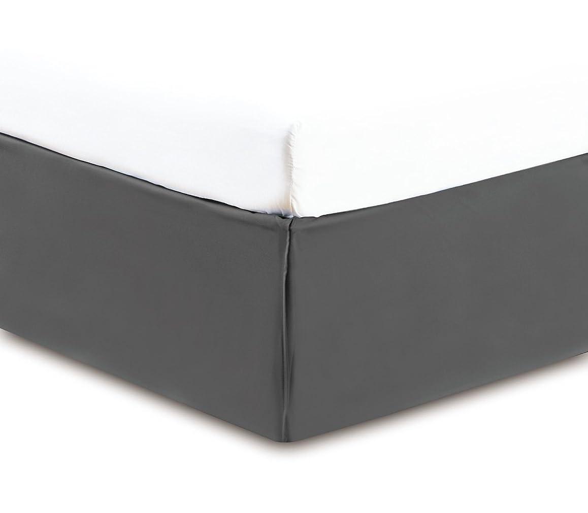 自分自身ケント謎(King, Grey) - Gold Crown Collection Solid KING GREY BED SKIRT 1500 Series High Thread Count 36cm fall 95 GSM Microfiber dust ruffle allows for natural draping, Silky Soft & Wrinkle Free.
