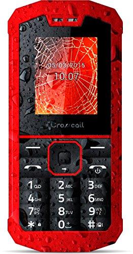 CROSSCALL SPIDER-X1 Cellulare Dual SIM impermeabile, Rosso