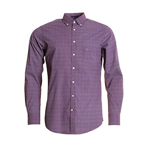Photo of Fynch Hatton Tailored Prints Mens BD Shirt Wine/Taupe L
