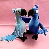 New 2014 2Pcs / lot Rio 2 Movie Cartoon Plush Toys Dolls Blue Parrot Blu \u0026 Jewel Bird plush doll 1026