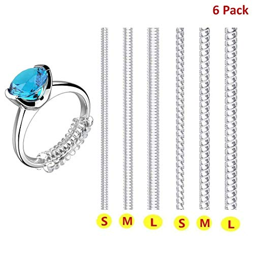 Ring Size Adjuster for Loose Rings Invisible Transparent Silicone Guard Jewelry Tightener Resizer 6...