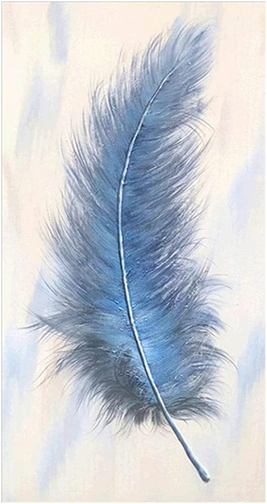 Diamond Painting 2021 Kits Inexpensive Large Size Full Drill Feather DIY Blue 5D