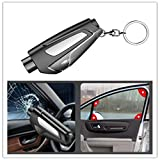 2pcs Car Escape Tool Safety Seatbelt Cutter and Window Glass Breaker, Portable Keychain