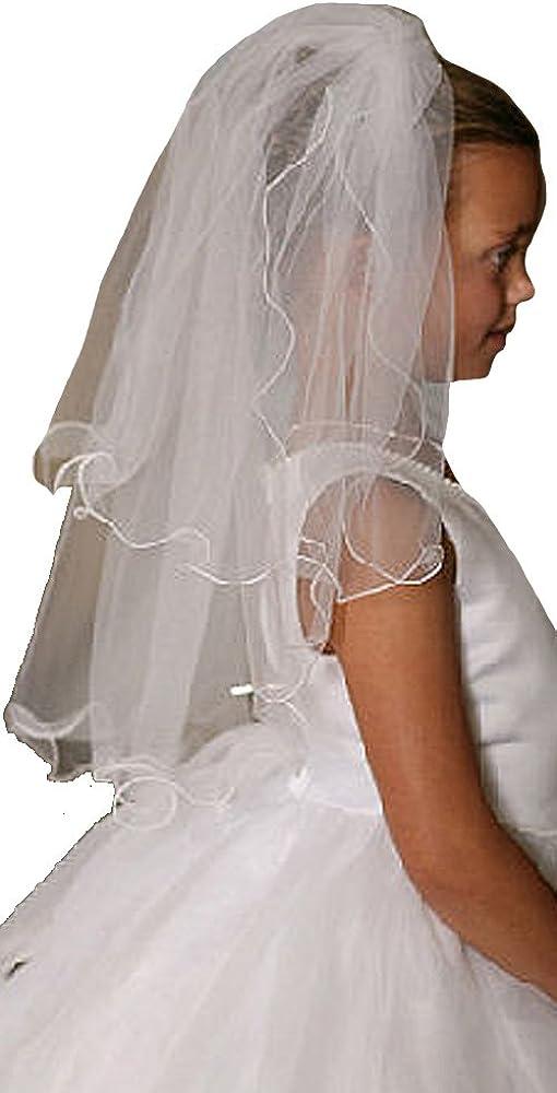 Communion Veil - Communion Veils Headpieces - First Communion Veil W/Scallop Trim