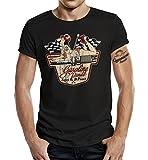 Gasoline Bandit Camiseta original Biker Racer Rockabilly con diseño de Superpower Negro XXL