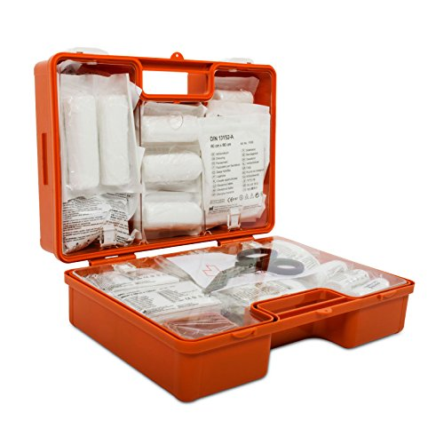 Erste-Hilfe-Koffer gemäß DIN 13169 | großer Verbandskasten für Betriebe | inkl. Wandhalterung