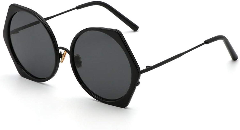 Fuqiuwei Sonnenbrillen Simple And Versatile Temperament Retro Sunglasses Female Personality Sunglasses Polygon Retro Sunglasses Big Box