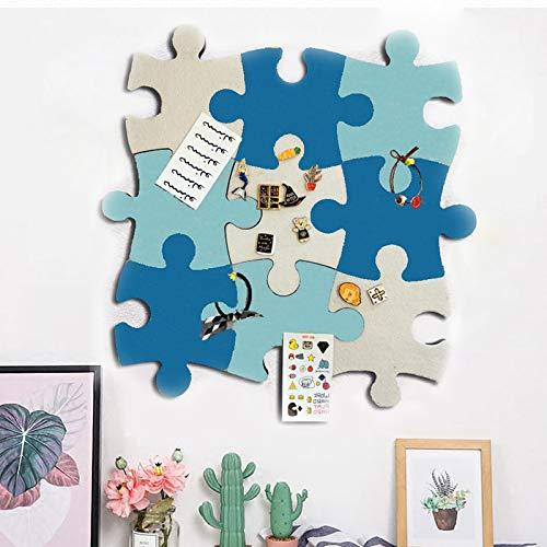 Korktafel-Fliesen, Filz-Pinnwand, Puzzle-Form, Pinnwand mit selbstklebender Pinnwand für Erinnerungen, Fotos, Memos, Anzeigetafel, Pads, Bilder, Zeichnen, Ziele, Notizen, Zuhause, Schule