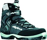 Alpina BC-1550 Back-Country Nordic Cross-Country Ski Boots, for use with NNN-BC Bindings, Black/Silver, 38