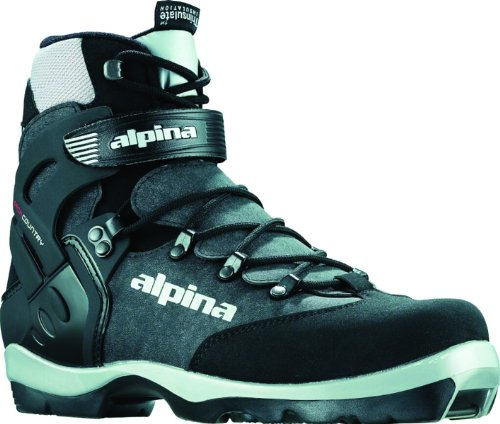Alpina BC-1550 Back-Country Nordic Cross-Country Ski Boots, for use with NNN-BC Bindings, Black/Silver, 49