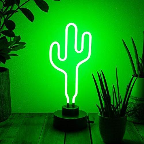 Flamingueo Luces Neon - Neon con forma de Cactus, Luz Neon decorativa, Luz Neon Habitacion, Luces para decorar habitacion, Lampara Cactus, Lampara Neon, Luces Neon decoracion, Cartel luminoso Neon