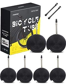 FANSPRO 700 x 28-32c Road Bike Inner Tubes 60mm Presta Valve Premium Quality Butyl Inner Tube 6 Pack with 2 Tire Levers