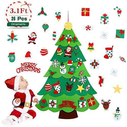 Aitsite Árbol de Navidad de Fieltro, Árbol Navidad niños,
