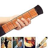 LVSSY-Pocket Guitar,6 Fret Portable Left Hand Pocket Guitar Practice Tool Guitar Gadget Chord Trainer for Beginner Guitarist Practice Training (525CM)