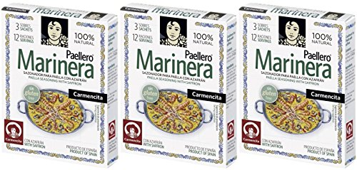 Carmencita Paellero Seafood Paella Spice Mix 12 gr. - [Pack 3]