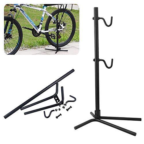 WASAGA Cavalletto da Lavoro per Bici, Supporto per Riparazione Biciclette-Supporto Multifunzione Regolabile per portaoggetti per Bici Supporto per la Manutenzione del Pavimento della Forcella a Terra