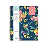 Day Designer for Blue Sky 2021-2022 Academic Year Weekly & Monthly Planner, 8.5' x 11', Flexible Cover, Wirebound, Peyton Navy (107924-A22)