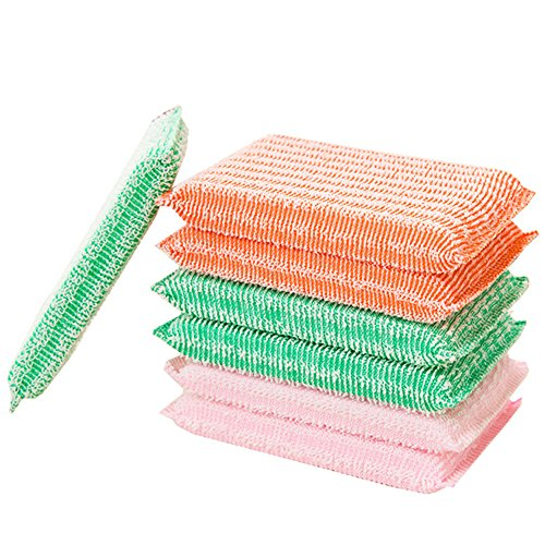 Youlixuess Best Kitchen Dish Washing Cloths Sponges Scrubber for Odor Free - Quick Dry, Multi Purpose Scrubbing Scrub Scourer Pads