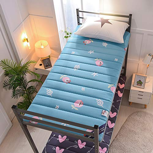 YQ WHJB Mattress Topper, Thick Sponge Bed Mattress Pad Comfortable Breathable Tatami Floor Sleeping Mat Folding Cotton Single Double Lazy Bed-b 90x200cm(35x79inch)