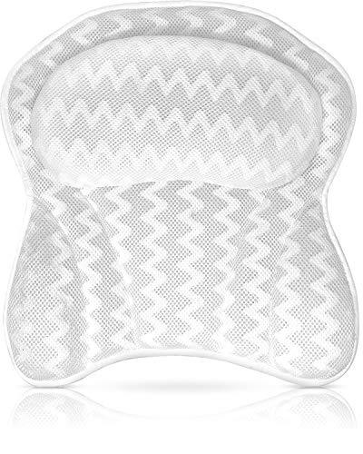 Luxurious Bath Pillow for Tub – Ergonomic Bath Pillow for Neck and Back Support – Bathtub Cushion for Anti Mold...