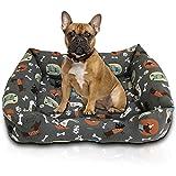 cuccia cane,cuccia gatto, interno esterno lettino cuscino per cani cucce per cani in morbido cotone adatto per diverse dimensioni di cani gatti conigli – impermeabile ed antiscivolo (grigio, l)