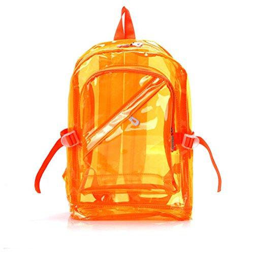OULII Transparente Mochila Cute School Bolsa de hombro Candy Color Satchel para los niños