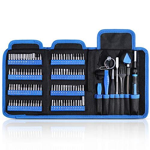 ORIA Präzisions Schraubenzieher Set, 126-in-1-Schraubendreher Set Feinmechanik, Magnet Handy Reparatur Werkzeug Set für Mobiltelefone, Smartphones, Spielekonsolen, Tablets, PCs