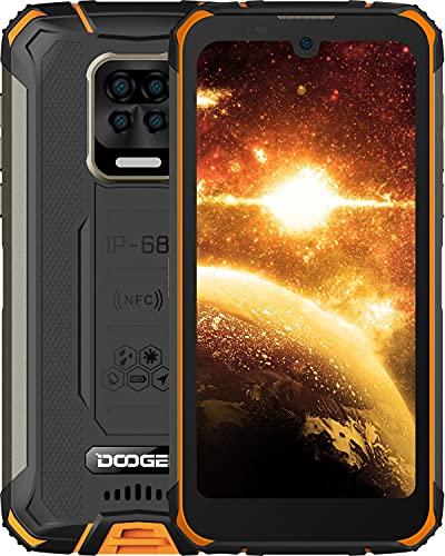 DOOGEE S59 Rugged Smartphone [2021],10050 mAh 4GB+64GB, Telefono Cellulare Robusto IP69K lP68,Potente Altoparlante da 2W,Fotocamera Quadrupla da 16 M + Frontale da 16 MP Smartphone Android 10, NFC GPS