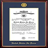 Campus Images AFCPT00111x14 Air Force Certificate Petite Frame with Gold Medallion, 11' x 14'