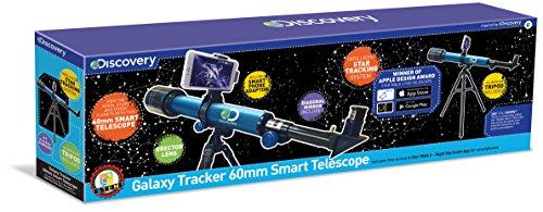 Discovery Channel TDK30 Galaxy Tracker - Telescopio Inteligente de 60 mm, Multicolor