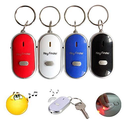 Mini GPS Tracker-4 piezas mini anti-perdida buscador de llaves silbato intermitente pitido remoto Lost Keyfinder Lost llavero Tag Tracker 4 colores Smart Key Finder